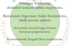 április 20. Zöld Szív Országos Találkozó, Orgoványi Anikó festőművész bemutatkozása
